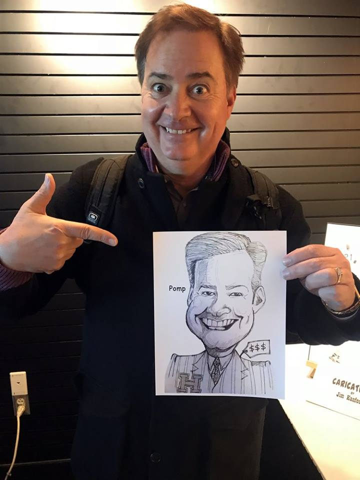 Bob Pompeani, Pittsburgh Entertainment, Pittsburgh News, talent network, inc., Caricature Art