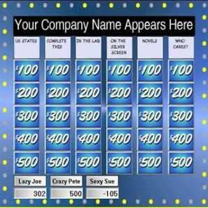 Brain Buzzers, Jeopardy, Game show Pittsburgh, book a game show