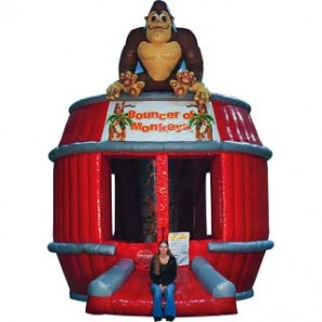 Inflatable, Bouncer of Monkeys, Novelty Entertainment