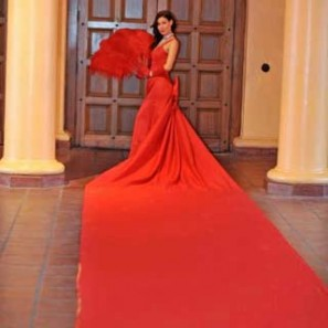 Red Carpet Dress, Living Red Carpet Lady