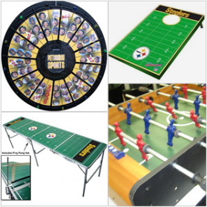 Sports Game Package, Interactive Games, Putting Challenge, Pong, Tailgate Toss, Foosball