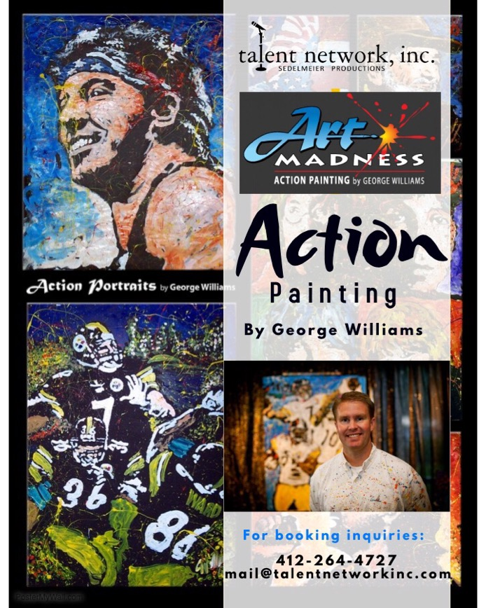 George Williams, Art Madness, Artist, Corporate Entertainer, Entertainment, Entertainer, Art, Pittsburgh Art