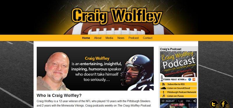 Former Pittsburgh Steeler Craig Wolfley