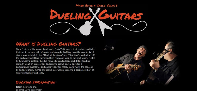 Dueling Guitars Show with Mark Eddie and Carlo Volhl