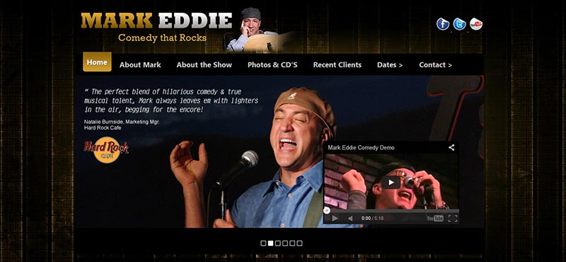Rock Comedian Mark Eddie
