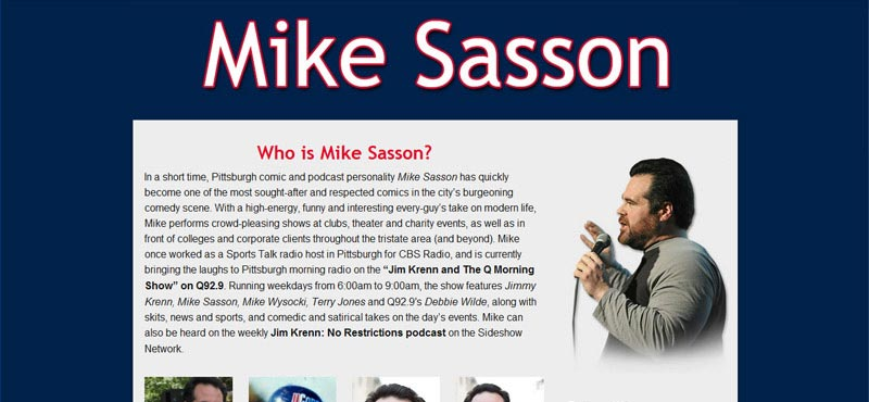 Comedian Mike Sasson