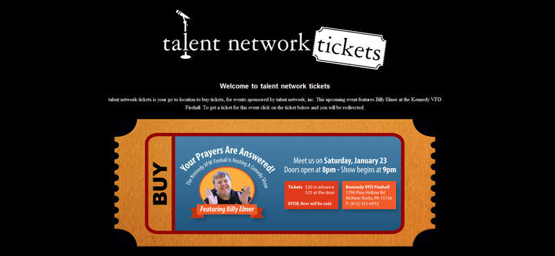 talent network tickets