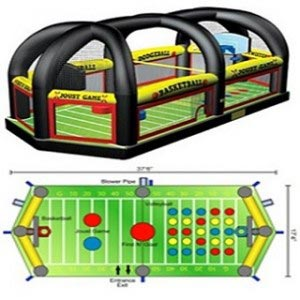 Pittsburgh Inflatable Entertainment, All in 1 Sports, Interactive Entertainment