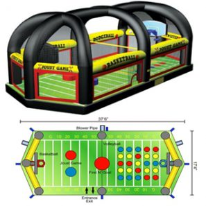 All in One Sports Arena, Sports Inflatable, Novelty Game Entertainment
