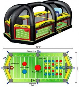 All in One Sports Arena, Pittsburgh Inflatable Entertainment