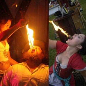 Daring Douglasses, Fire Eating Show