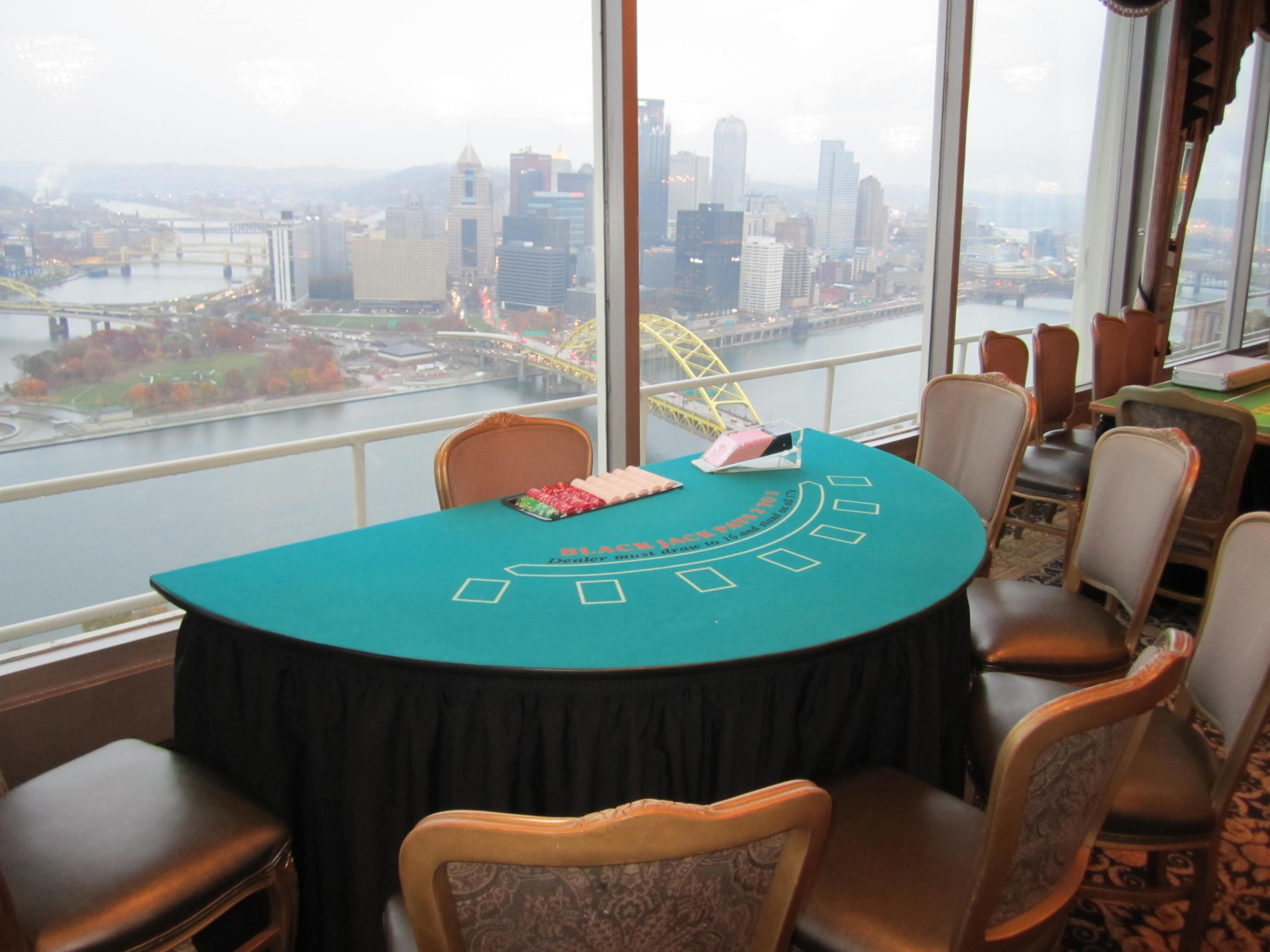Blackjack Table, Pittsburgh Casino Night