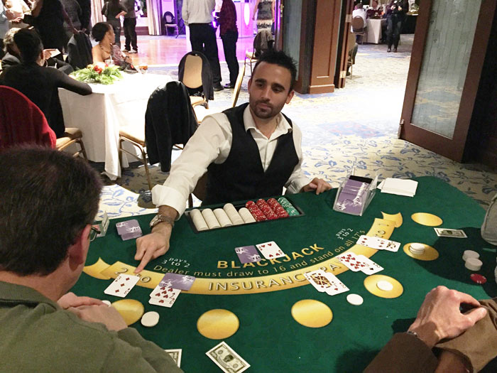 Blackjack dealers for hire