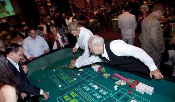 Craps table rentals by talent network