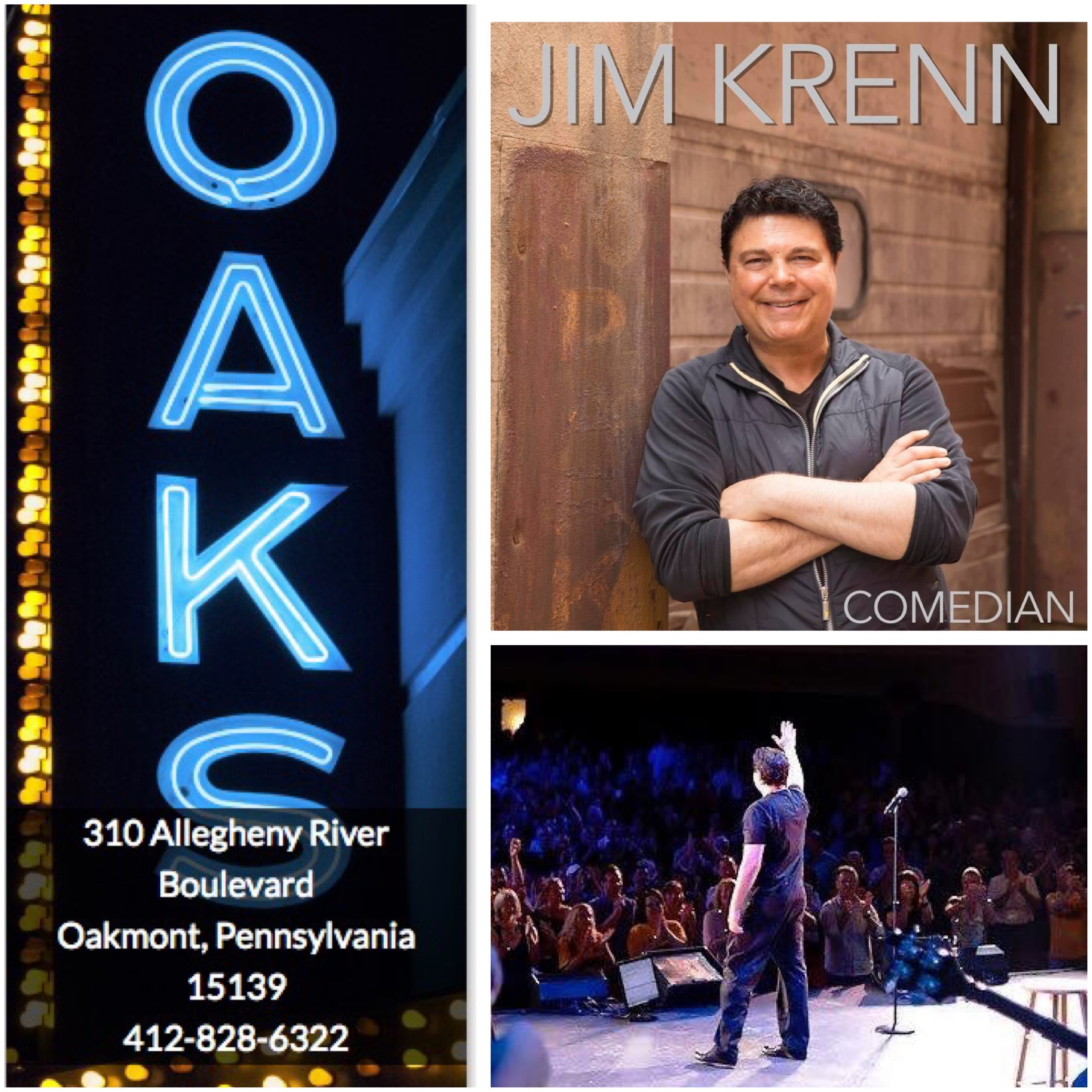 Jimmy Krenn, Pittsburgh Comedy, Oaks Theater