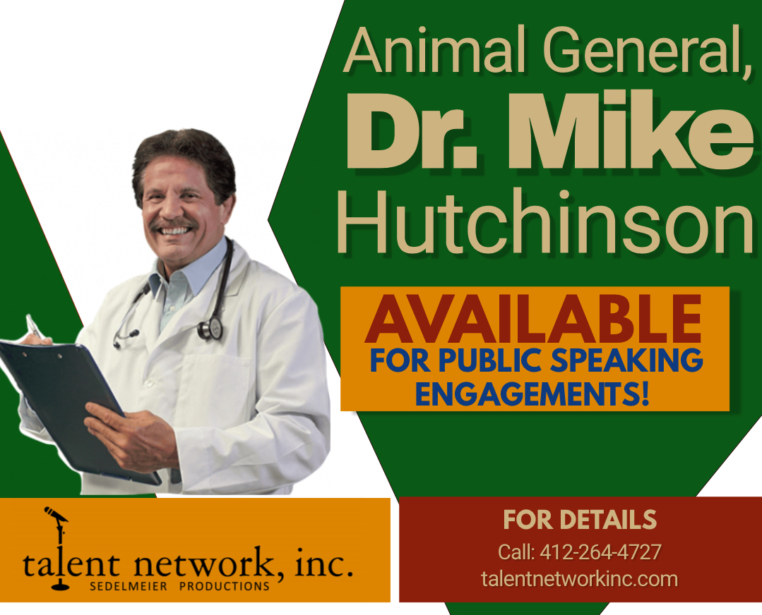 Dr. Mike Hutchinson, Public Speaker, talent network inc., speaker, speaking engagements, entertainer, Animal General, Pittsburgh, PA, Pennsylvania, traveling speaker