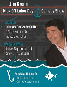 Jimmy Krenn, Comedy, Labor Day, Holiday Weekend Entertainment
