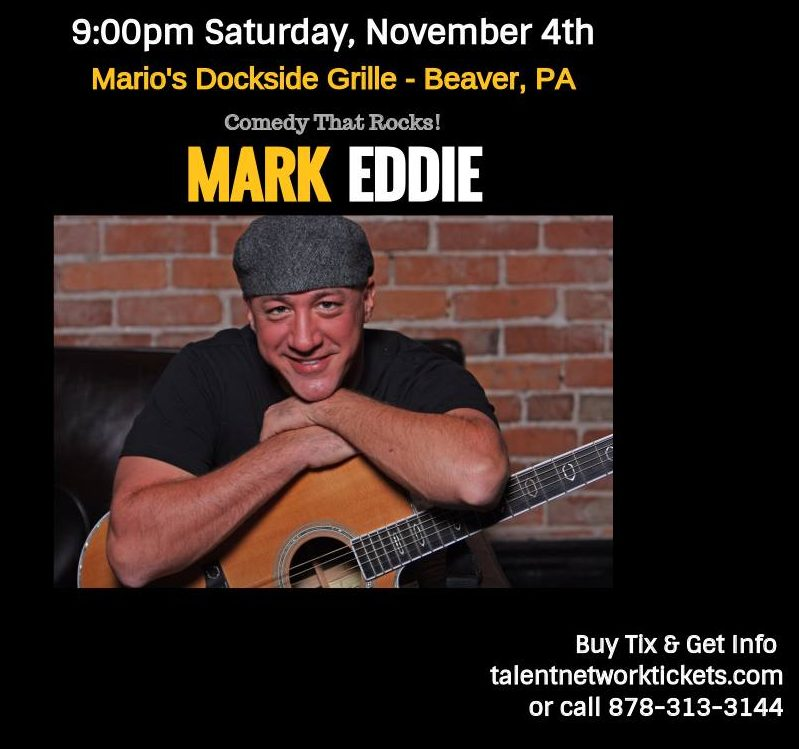 Mark Eddie, Rock Comic, Pittsburgh Entertainment