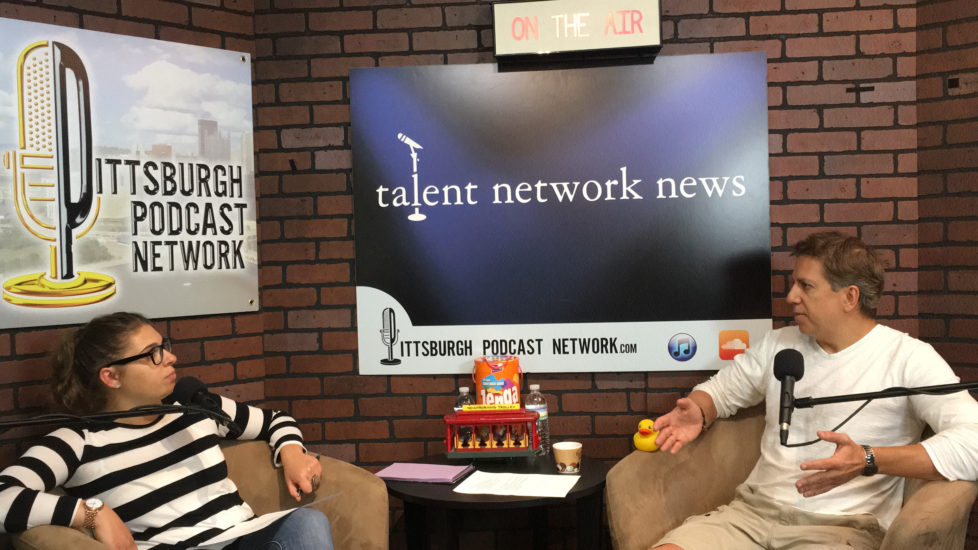 Hannah Lapiska and David Sedelmeier, talent talks