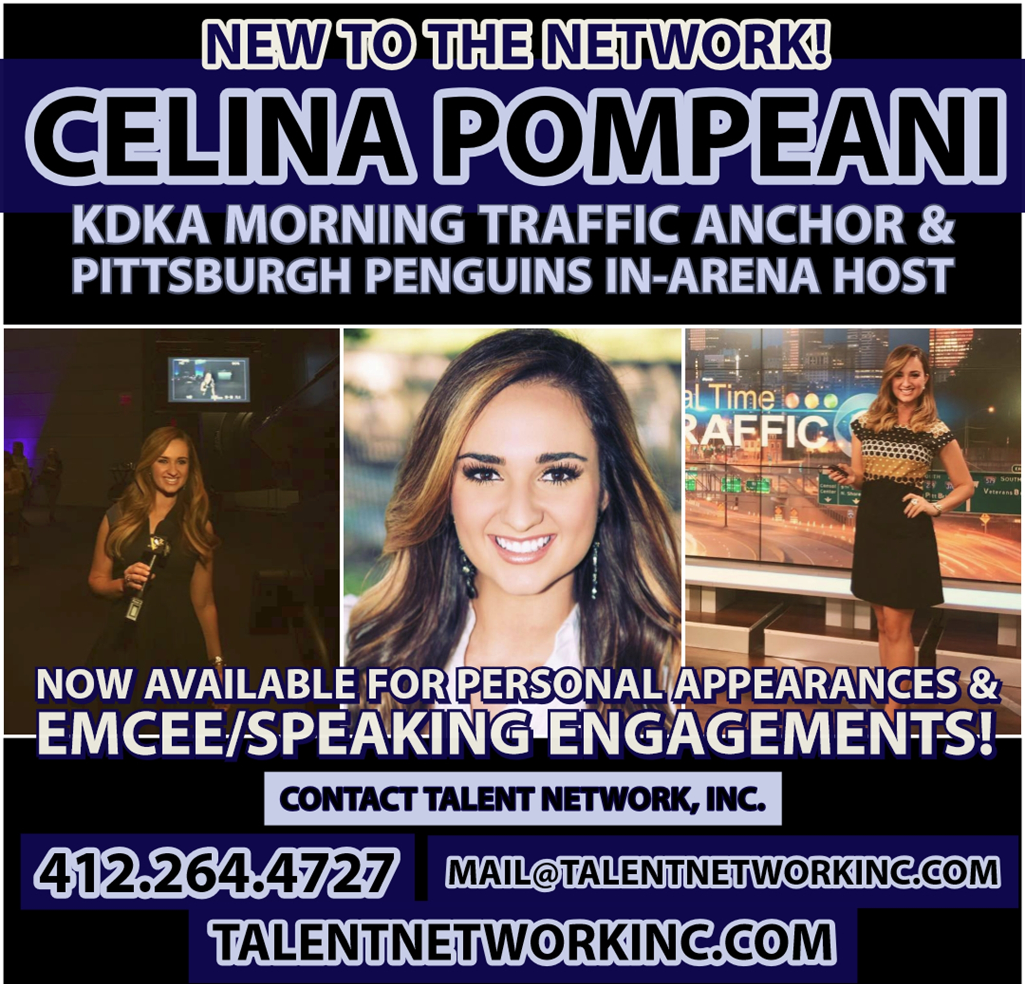 Celina Pompeani, Pittsburgh News Anchor, talent network