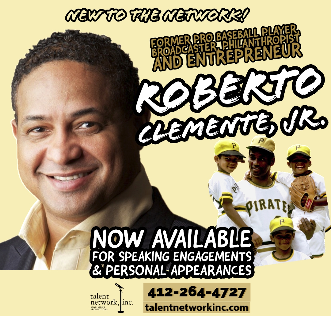 Roberto Clemente Jr., philanthropist, talent network inc, broadcaster, public speaker, entertainment, talent, talented entertainment, booking talent, booking entertainment, book entertainment