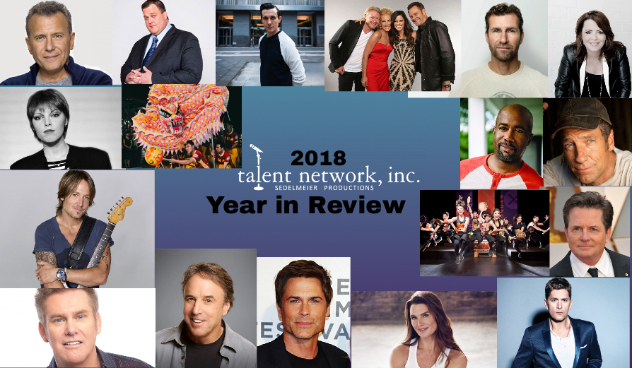 talent network inc, Year in Review, 2019, 29 years in business, talent network inc talent, talent network inc booking, bookings, national bookings, international bookings